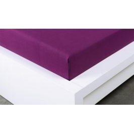 XPOSE ® Jersey prostěradlo Exclusive dvoulůžko - švestková 180x200 cm