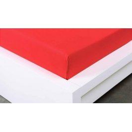 XPOSE ® Jersey prostěradlo Exclusive jednolůžko - červená 90x200 cm