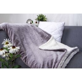 XPOSE ® Deka mikroplyš s beránkem - tmavě šedá 140x200 cm