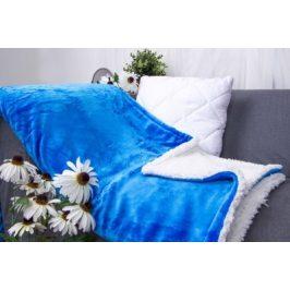 XPOSE ® Deka mikroplyš s beránkem - modrá 140x200 cm