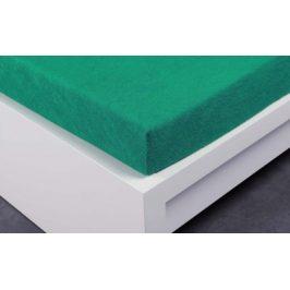 XPOSE ® Froté prostěradlo Exclusive dvoulůžko - zelenkavá 200x220 cm