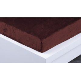 XPOSE ® Prostěradlo mikroplyš Exclusive dvoulůžko - tmavě hnědá 200x220 cm
