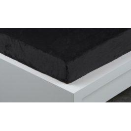 XPOSE ® Prostěradlo mikroplyš Exclusive jednolůžko - černá 90x200 cm