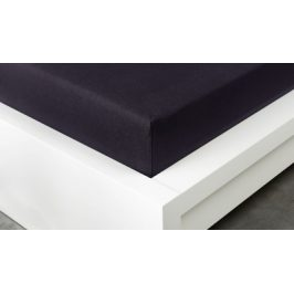 XPOSE ® Jersey prostěradlo Exclusive - černá 120x200 cm