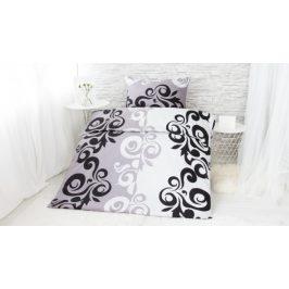 XPOSE ® Prodloužené bavlněné povlečení SABINA EXCLUSIVE - šedá 140x220, 70x90