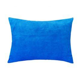 XPOSE ® Mikroplyšový povlak na polštář - modrá 40x60 cm
