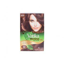 Dabur - Vatika barva na vlasy HENNA - přírodní hnědá 6x10 g