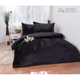 XPOSE ® Francouzské povlečení mikroplyš JORGA - černá 200x240, 70x90