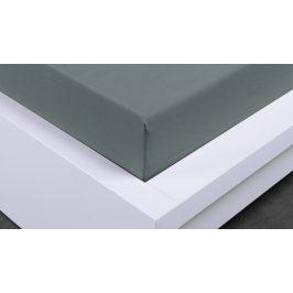 XPOSE ® Jersey prostěradlo Exclusive dvoulůžko - tmavě šedá 200x200 cm