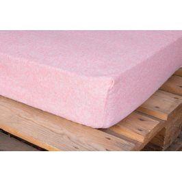 Hermann Cotton Froté prostěradlo Exclusive dvoulůžko MELÍR - růžová 180x200 cm
