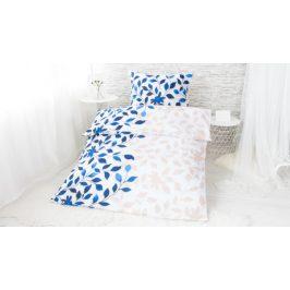 XPOSE ® Bavlněné povlečení na dvě lůžka IVANKA - modrá 140x200, 70x90