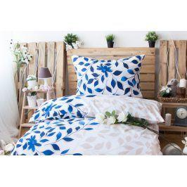 XPOSE ® Prodloužené bavlněné povlečení IVANKA - modrá 140x220, 70x90