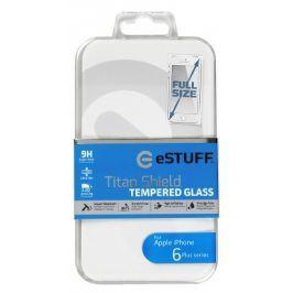 eSTUFF - ochranné sklo TitanShield Full pro iPhone 6+/6s+ bílé
