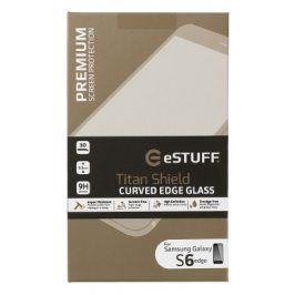 eSTUFF - ochranné sklo TitanShield 3D pro Samsung Galaxy S6 Edge černé