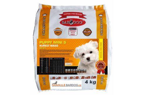 Bardog Super prémiové granule Puppy Mini S 31/21 - 4 kg Krmivo pro psy