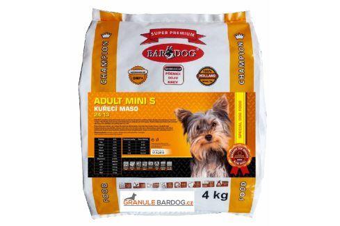 Bardog Adult Mini S super premium 24/13 - 4 kg Krmivo pro psy