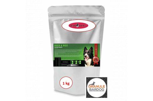 Bardog Super prémiové granule Duck Rice 24/12 1 kg Krmivo pro psy