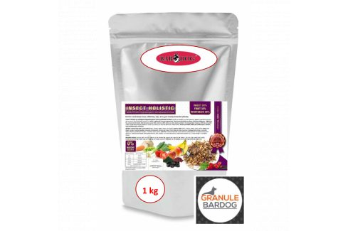 Bardog Hypoalergenní grain free granule Insect Holistic 1 kg Krmivo pro psy