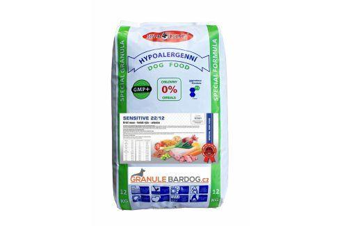 Bardog Hypoalergenní granule Sensitive  22/12 - 12 kg Krmivo pro psy