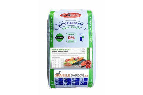 Bardog Hypoalergenní granule Fish rice 24/13 - 12 kg Krmivo pro psy