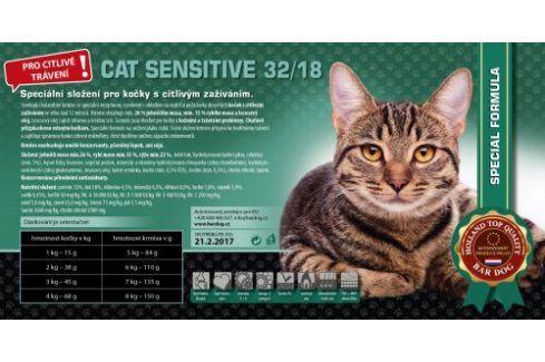 Bardog Cat Senstive 32/18 - 1 kg Vážená balení