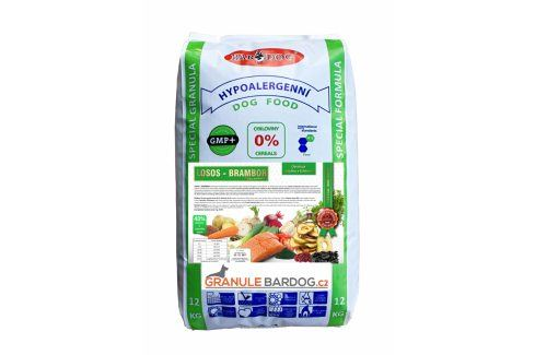 Bardog Lisované granule za studena losos a zemiakov 12 kg Krmivo pro psy