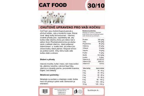 Cat Food 30/10 - 1 kg Krmivo a vitamíny pro kočky