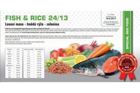 Bardog Hypoalergenní granule Fish rice 24/13 - 1 kg Kvalitní krmivo pro mazlíčky