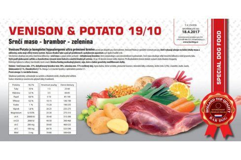 Venison Potato hypoalergenní 19/10 - 1 kg Kvalitní krmivo pro mazlíčky