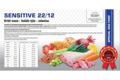Sensitive hypoalergenní 22/12 - 1 kg Kvalitní krmivo pro mazlíčky