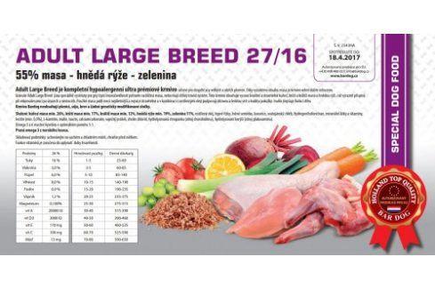 Bardog Hypoalergenní granule Adult Large Breed 27/16 - 1 kg Kvalitní krmivo pro mazlíčky