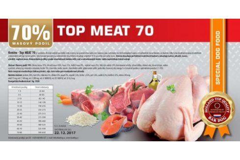 Top Meat 70 lisované - 1 kg Kvalitní krmivo pro mazlíčky