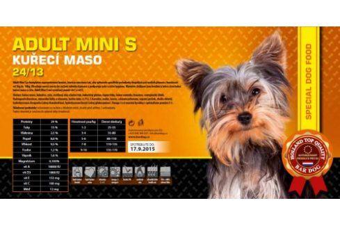 Bardog Super prémiové granule Adult Mini S 24/13 - 1 kg Kvalitní krmivo pro mazlíčky