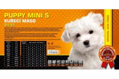 Bardog Super premiové granule Puppy Mini S  31/21 - 1 kg Kvalitní krmivo pro mazlíčky