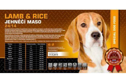 Bardog Super premiové granule Lamb rice 24/14 - 1 kg Kvalitní krmivo pro mazlíčky
