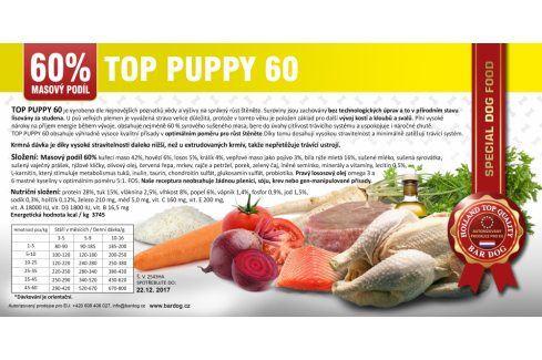 Bardog Top Puppy 60 lisované - 1 kg Kvalitní krmivo pro mazlíčky