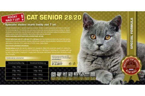Bardog Super prémiové krmivo Cat Senior 28/20 - 1 kg Vážená balení