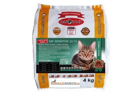Bardog Super prémiové krmivo pro kočky Cat Sensitive 32/18 - 4 kg Super Prémium