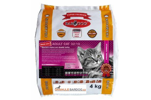 Bardog Super prémiové krmivo pro kočky Cat Adult 32/18 - 4 kg Super Prémium