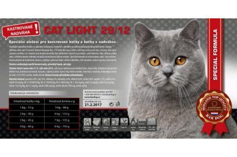 Bardog Super prémiové krmivo pro kočky Cat Light 29/12 - 1 kg Vážená balení