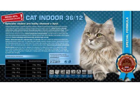 Bardog Super prémiové krmivo pro kočky Cat Indoor 36/12 - 1 kg Vážená balení