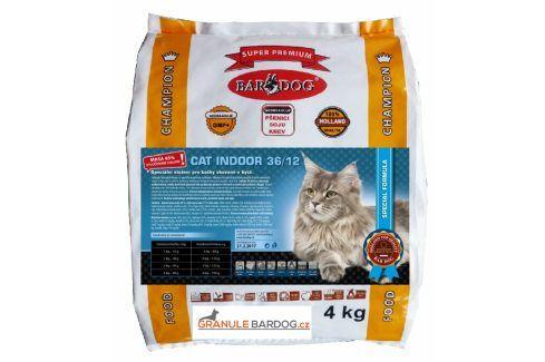 Bardog Super prémiové krmivo pro kočky Cat Indoor 36/12 - 4 kg Super Prémium