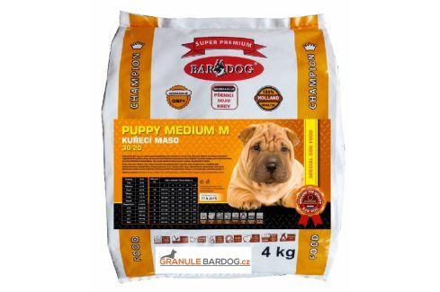 Bardog Super prémiové granule Puppy Medium M 30/20 - 4 kg Krmivo pro psy