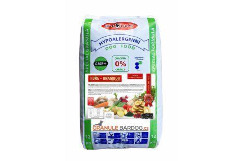 Bardog Granule lisované za studena Kuře a brambor 12 kg Krmivo pro psy