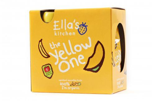 Ella's Kitchen Ovocné pyré - Yellow One (Banán) - 5 ks   Ovocné přesnídávky