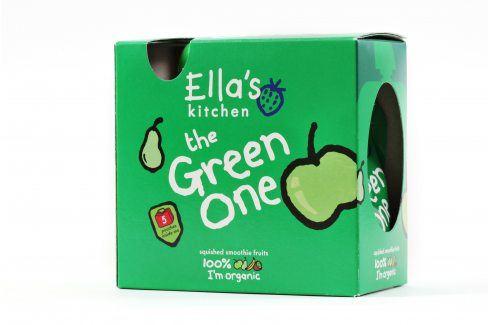 Ella's Kitchen Ovocné pyré - Green One  (Jablko) - 5 ks   Ovocné přesnídávky