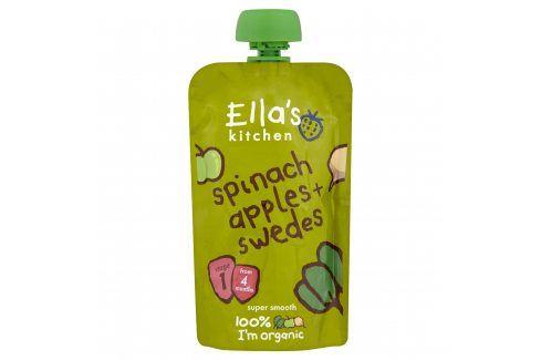 Ella's Kitchen Špenát, jablko a tuřín   Zeleninové příkrmy