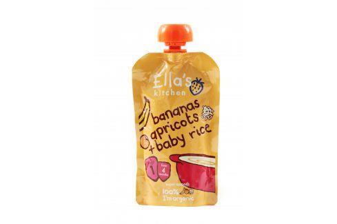 Ella's Kitchen Detská rýže - Banán a meruňka   Ovocné přesnídávky