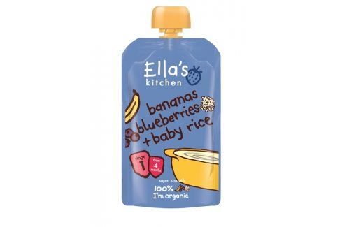 Ella's Kitchen Dětská rýže - Banán a borůvky   Ovocné přesnídávky