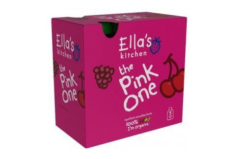 Ella's Kitchen Ovocné pyré - Pink One (Třešeň) - 5 ks   Ovocné přesnídávky